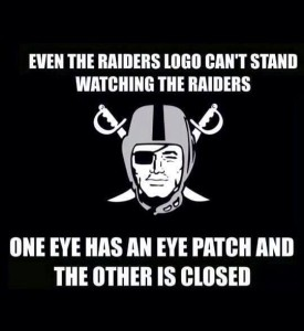 Even the logo can't stand watching the raiders